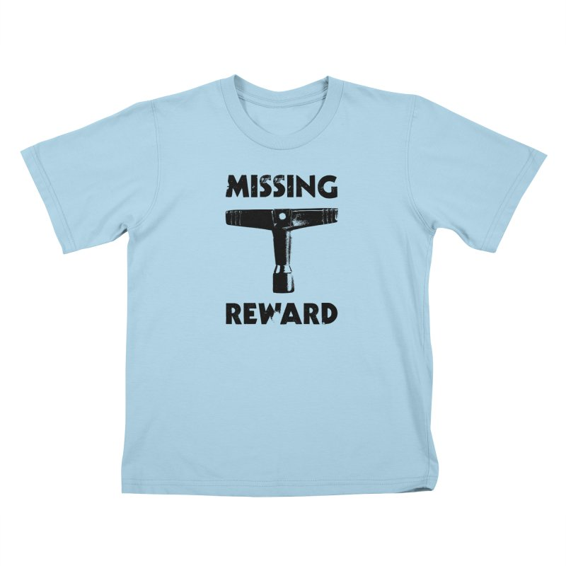 Missing Drum Key - Black Logo Kids T-Shirt by Drum Geek Online Shop