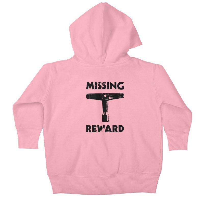Missing Drum Key - Black Logo Kids Baby Zip-Up Hoody by Drum Geek Online Shop
