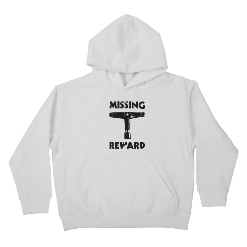 Missing Drum Key (Black Logo) Kids Pullover Hoody by Drum Geek Online Shop