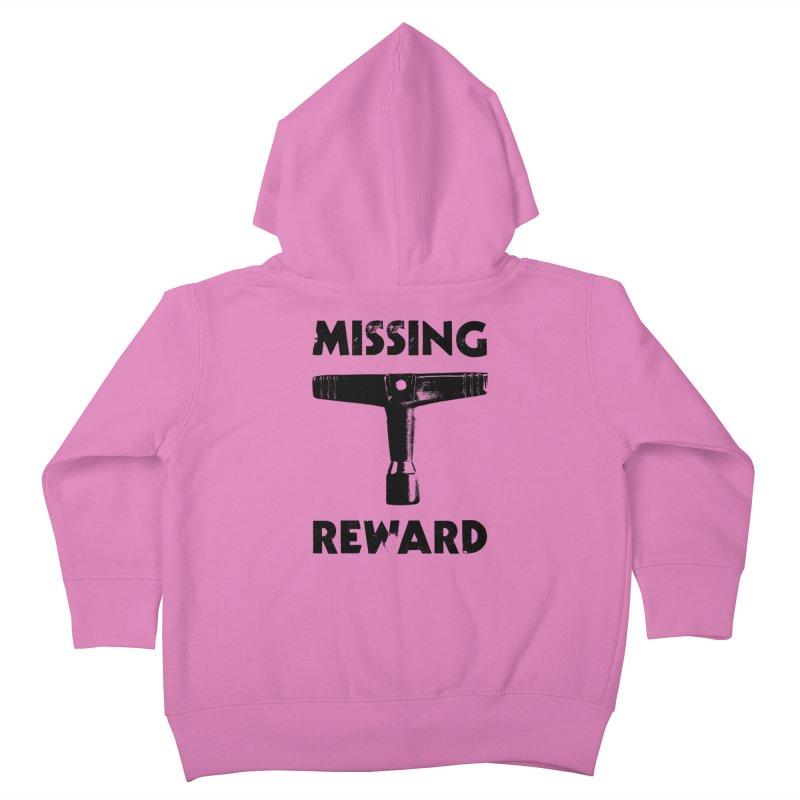 Missing Drum Key (Black Logo) Kids Toddler Zip-Up Hoody by Drum Geek Online Shop
