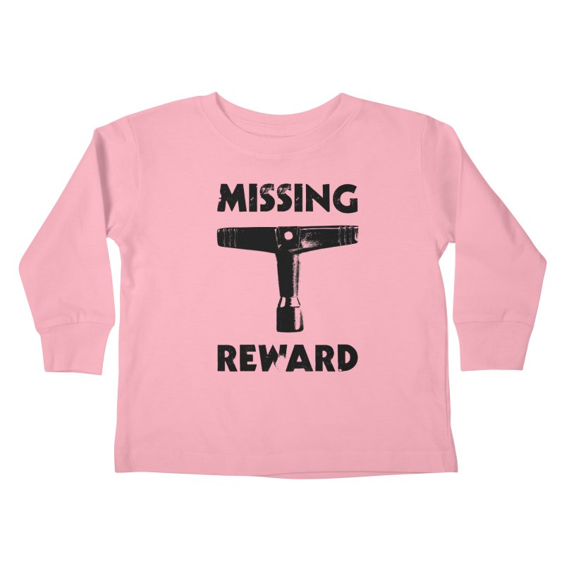 Missing Drum Key (Black Logo) Kids Toddler Longsleeve T-Shirt by Drum Geek Online Shop