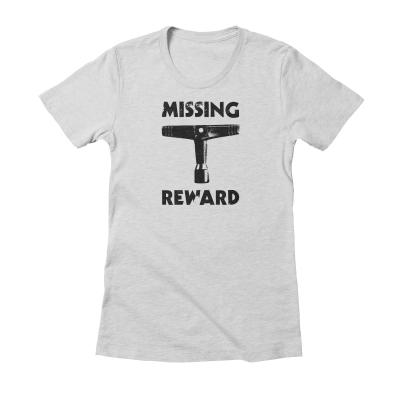 Missing Drum Key (Black Logo) Women's Fitted T-Shirt by Drum Geek Online Shop