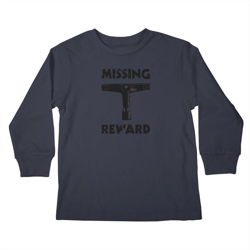 Missing Drum Key (Black Logo) Kids Longsleeve T-Shirt by Drum Geek Online Shop