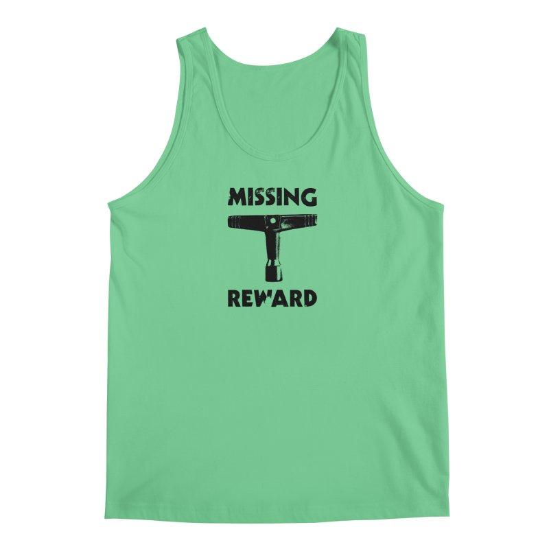 Missing Drum Key (Black Logo) Men's Regular Tank by Drum Geek Online Shop