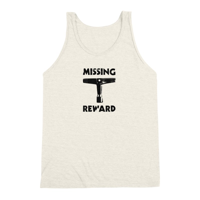 Missing Drum Key (Black Logo) Men's Triblend Tank by Drum Geek Online Shop