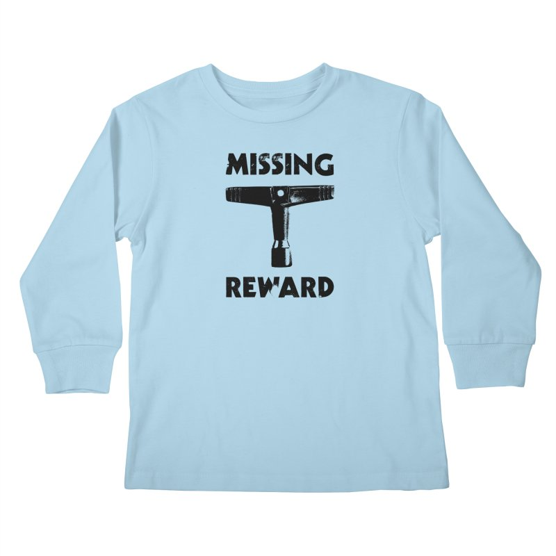 Missing Drum Key (Black Logo) Kids Longsleeve T-Shirt by Drum Geek Online Shop