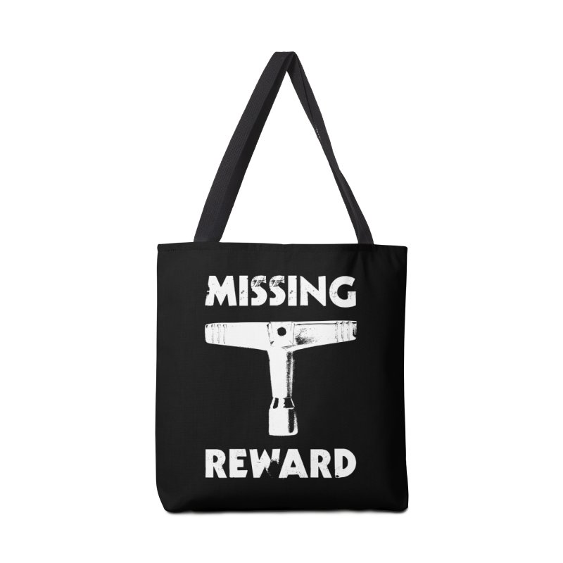 Missing Drum Key - White Logo Accessories Tote Bag Bag by Drum Geek Online Shop