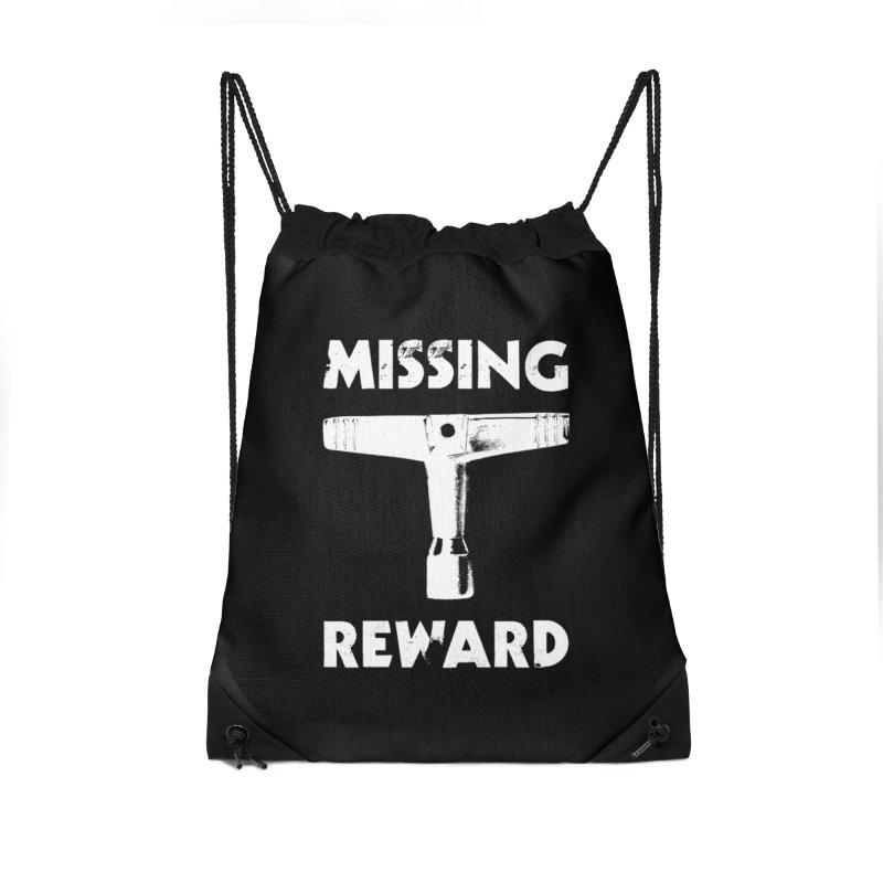 Missing Drum Key (White Logo) Accessories Drawstring Bag Bag by Drum Geek Online Shop