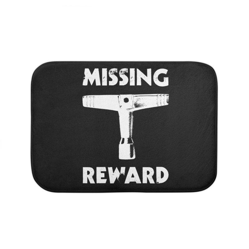 Missing Drum Key (White Logo) Home Bath Mat by Drum Geek Online Shop