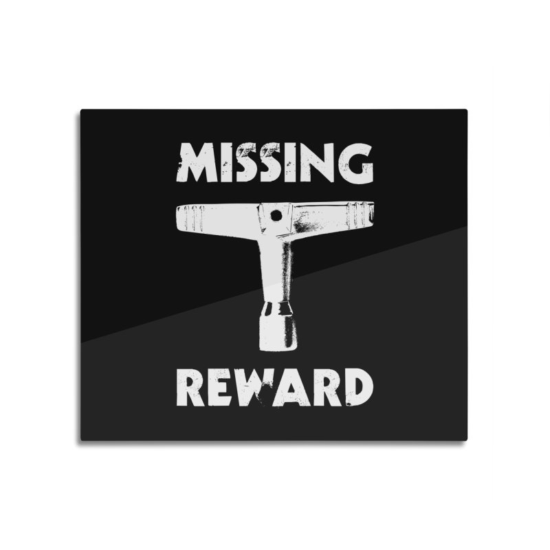 Missing Drum Key - White Logo Home Mounted Aluminum Print by Drum Geek Online Shop