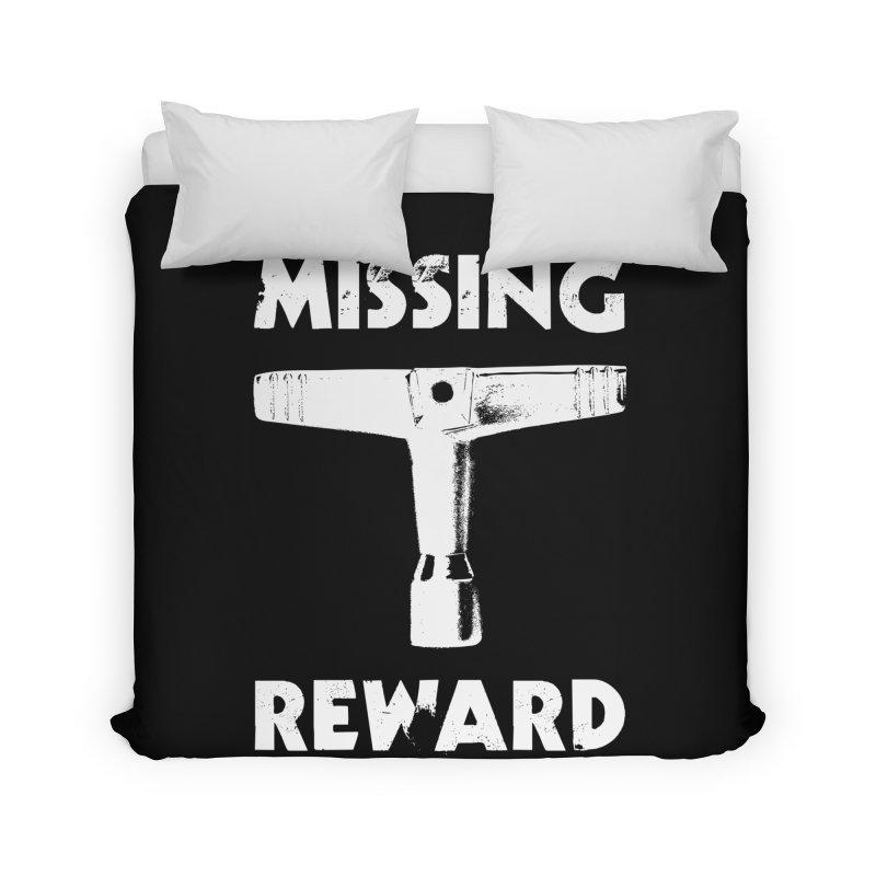 Missing Drum Key (White Logo) Home Duvet by Drum Geek Online Shop