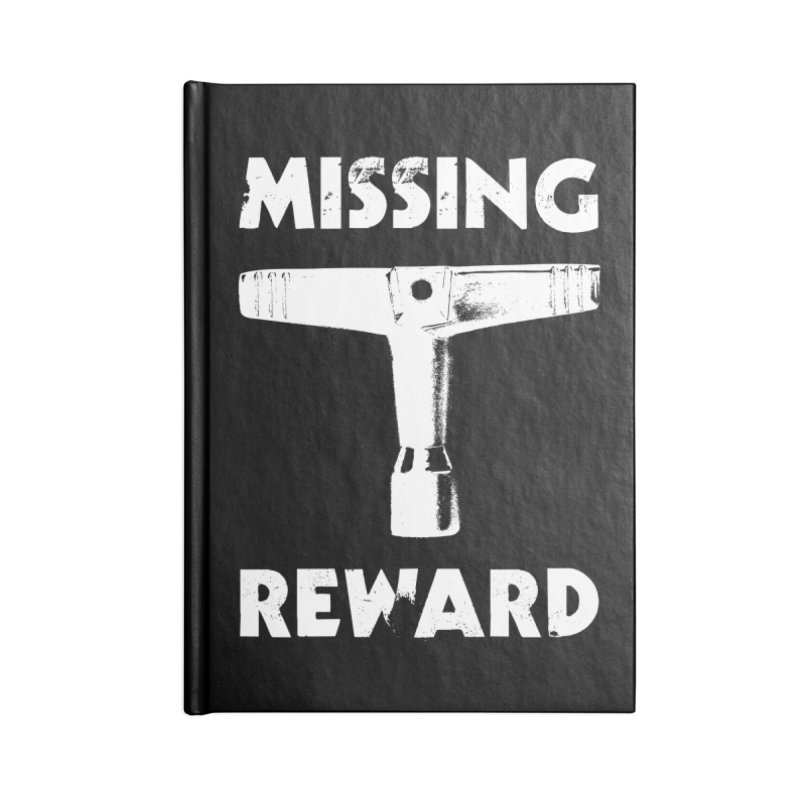 Missing Drum Key (White Logo) Accessories Lined Journal Notebook by Drum Geek Online Shop