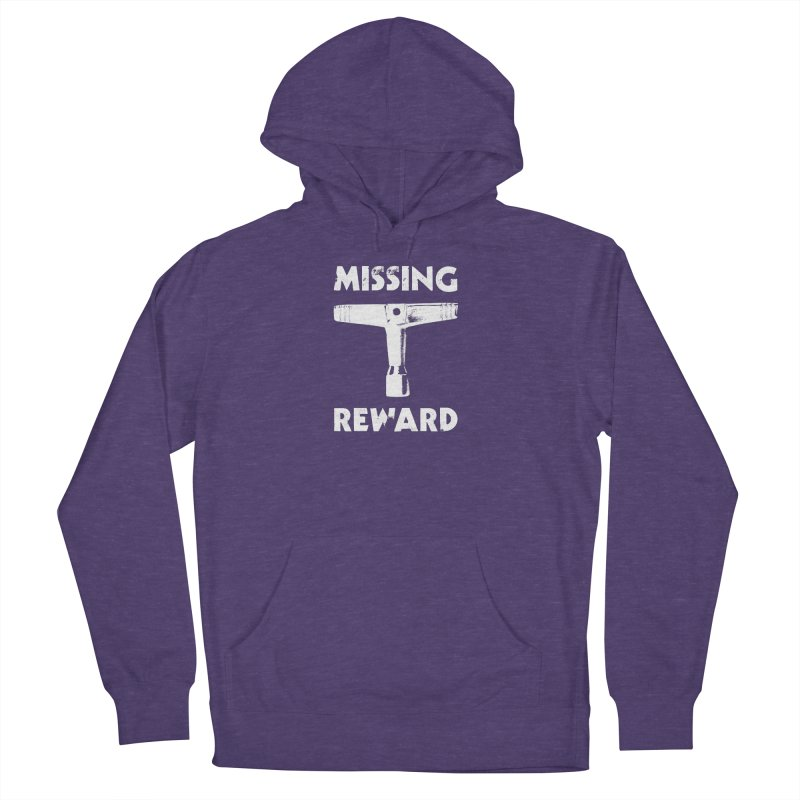 Missing Drum Key (White Logo) Men's French Terry Pullover Hoody by Drum Geek Online Shop