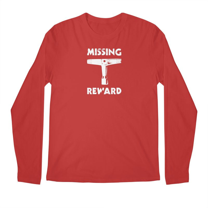Missing Drum Key (White Logo) Men's Regular Longsleeve T-Shirt by Drum Geek Online Shop