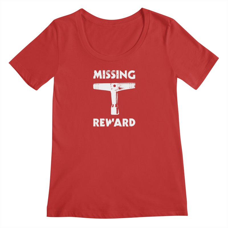 Missing Drum Key - White Logo Women's Scoop Neck by Drum Geek Online Shop