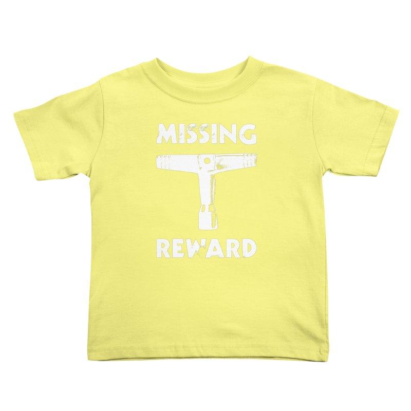 Missing Drum Key (White Logo) Kids Toddler T-Shirt by Drum Geek Online Shop