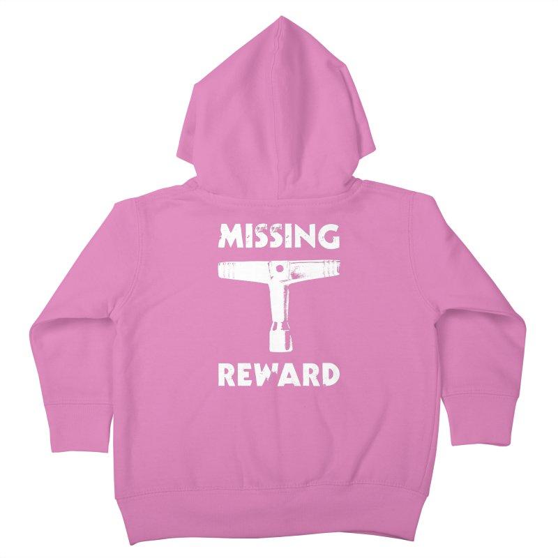 Missing Drum Key (White Logo) Kids Toddler Zip-Up Hoody by Drum Geek Online Shop