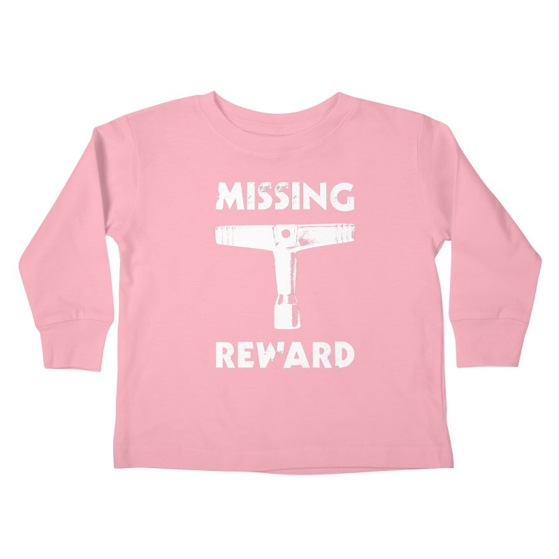 Missing Drum Key (White Logo) Kids Toddler Longsleeve T-Shirt by Drum Geek Online Shop