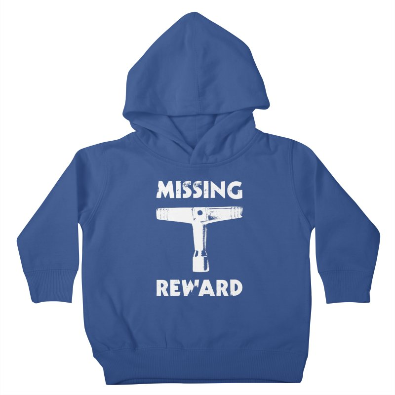 Missing Drum Key (White Logo) Kids Toddler Pullover Hoody by Drum Geek Online Shop