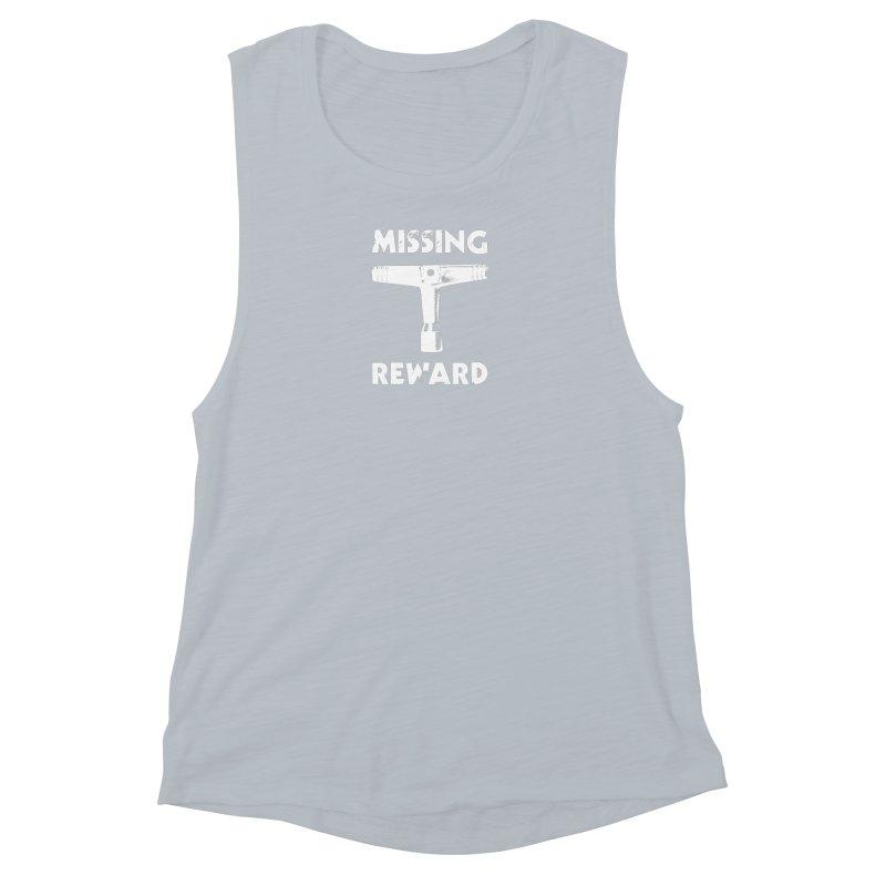 Missing Drum Key (White Logo) Women's Muscle Tank by Drum Geek Online Shop