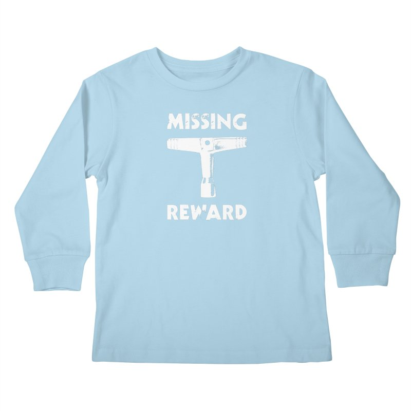 Missing Drum Key (White Logo) Kids Longsleeve T-Shirt by Drum Geek Online Shop