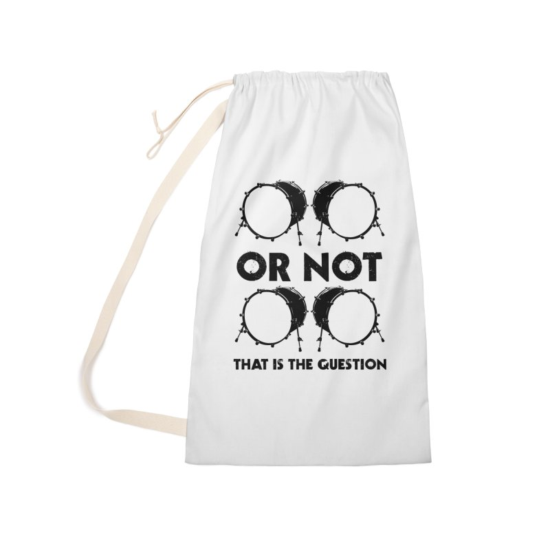 2 Kicks or Or Not 2 Kicks - Black Logo Accessories Laundry Bag Bag by Drum Geek Online Shop