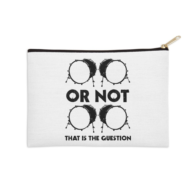 2 Kicks or Or Not 2 Kicks - Black Logo Accessories Zip Pouch by Drum Geek Online Shop