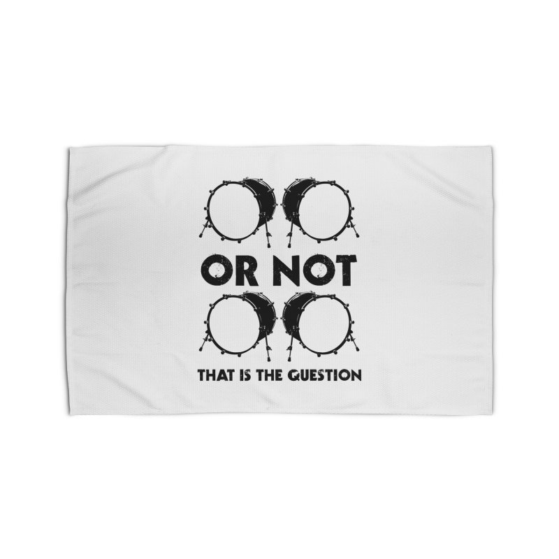 2 Kicks or Or Not 2 Kicks - Black Logo Home Rug by Drum Geek Online Shop