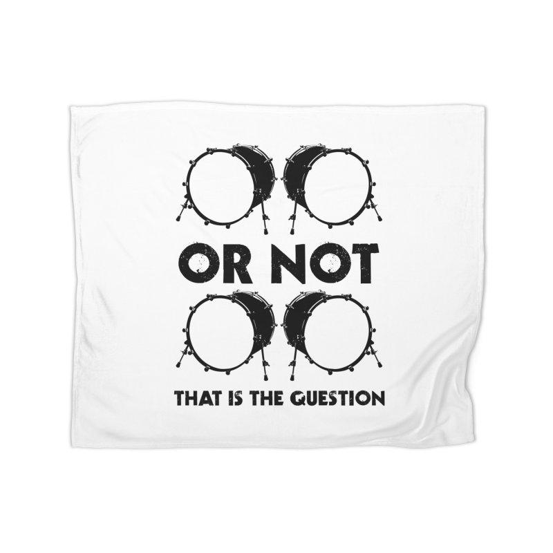 2 Kicks or Or Not 2 Kicks - Black Logo Home Fleece Blanket Blanket by Drum Geek Online Shop