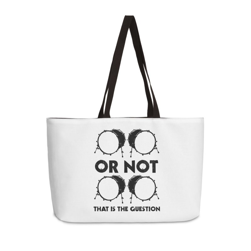 2 Kicks or Or Not 2 Kicks - Black Logo Accessories Weekender Bag Bag by Drum Geek Online Shop