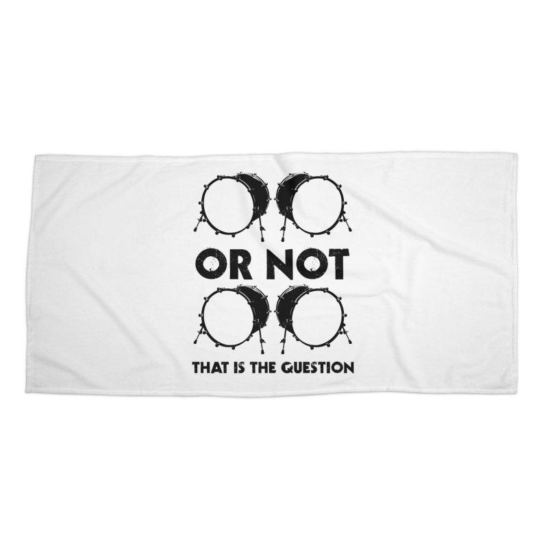 2 Kicks or Or Not 2 Kicks - Black Logo Accessories Beach Towel by Drum Geek Online Shop