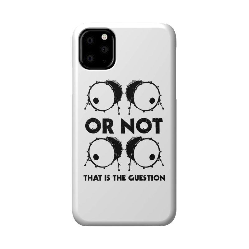 2 Kicks or Or Not 2 Kicks - Black Logo Accessories Phone Case by Drum Geek Online Shop