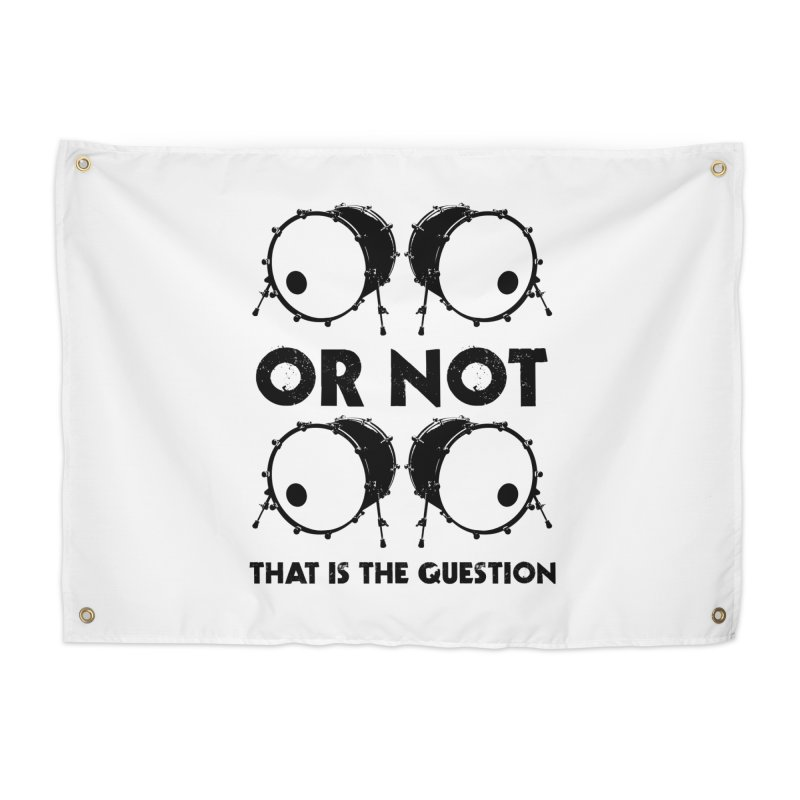 2 Kicks or Or Not 2 Kicks (Black) Home Tapestry by Drum Geek Online Shop