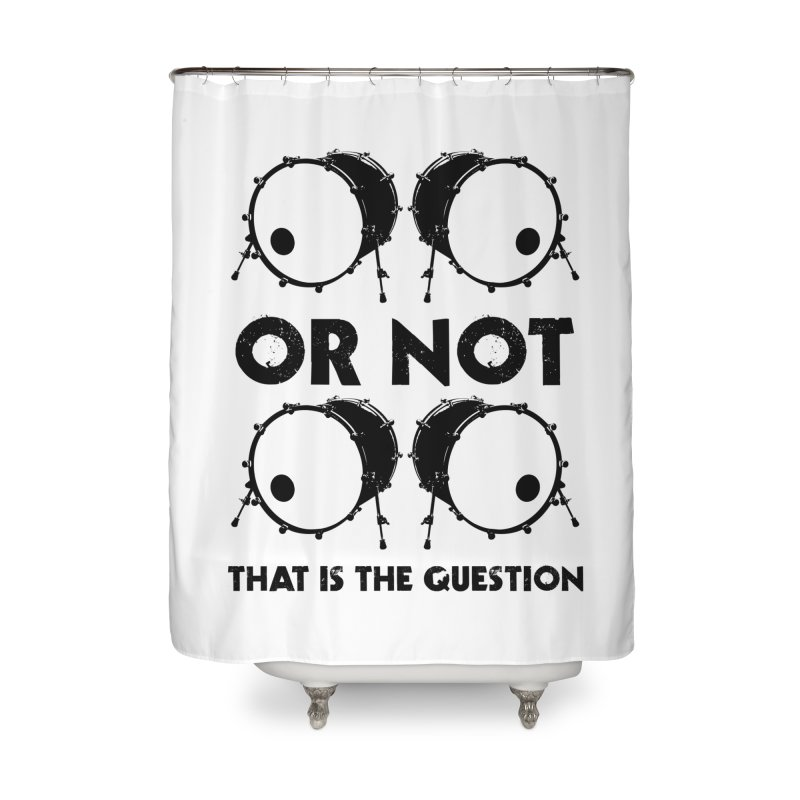 2 Kicks or Or Not 2 Kicks (Black) Home Shower Curtain by Drum Geek Online Shop
