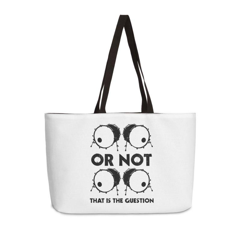2 Kicks or Or Not 2 Kicks (Black) Accessories Weekender Bag Bag by Drum Geek Online Shop