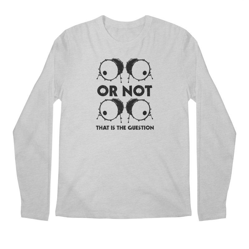 2 Kicks or Or Not 2 Kicks (Black) Men's Regular Longsleeve T-Shirt by Drum Geek Online Shop