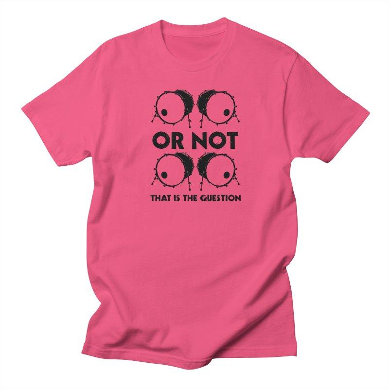 2 Kicks or Or Not 2 Kicks (Black) Women's Regular Unisex T-Shirt by Drum Geek Online Shop