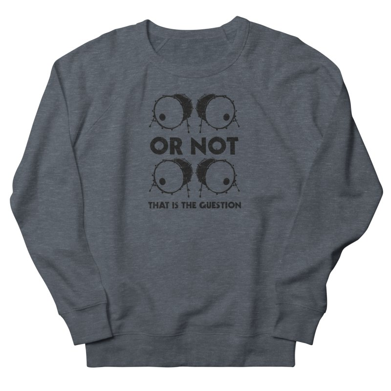 2 Kicks or Or Not 2 Kicks (Black) Men's French Terry Sweatshirt by Drum Geek Online Shop