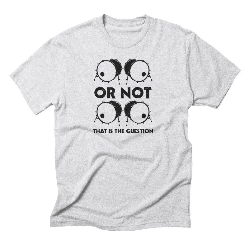 2 Kicks or Or Not 2 Kicks (Black) Men's Triblend T-Shirt by Drum Geek Online Shop