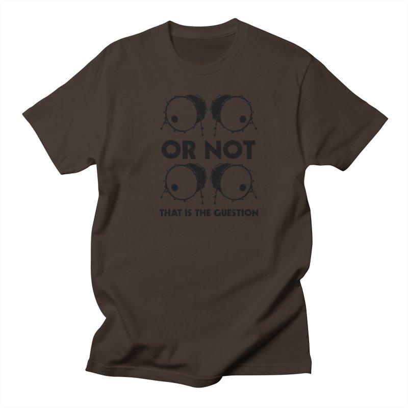 2 Kicks or Or Not 2 Kicks (Black) Men's Regular T-Shirt by Drum Geek Online Shop