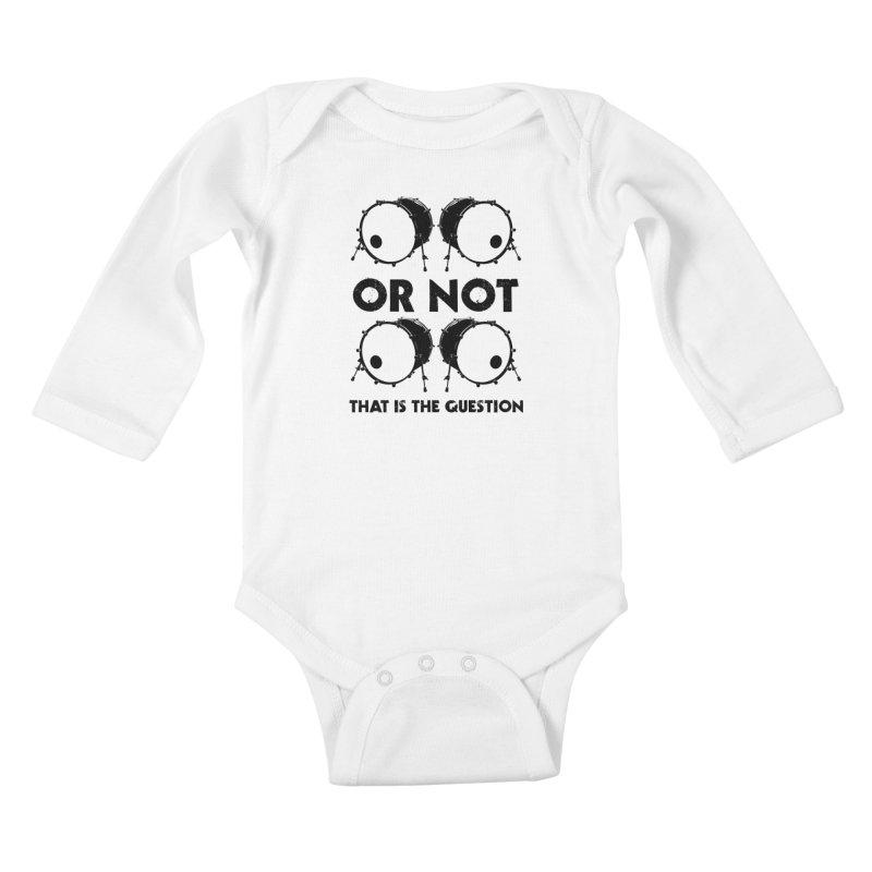 2 Kicks or Or Not 2 Kicks (Black) Kids Baby Longsleeve Bodysuit by Drum Geek Online Shop