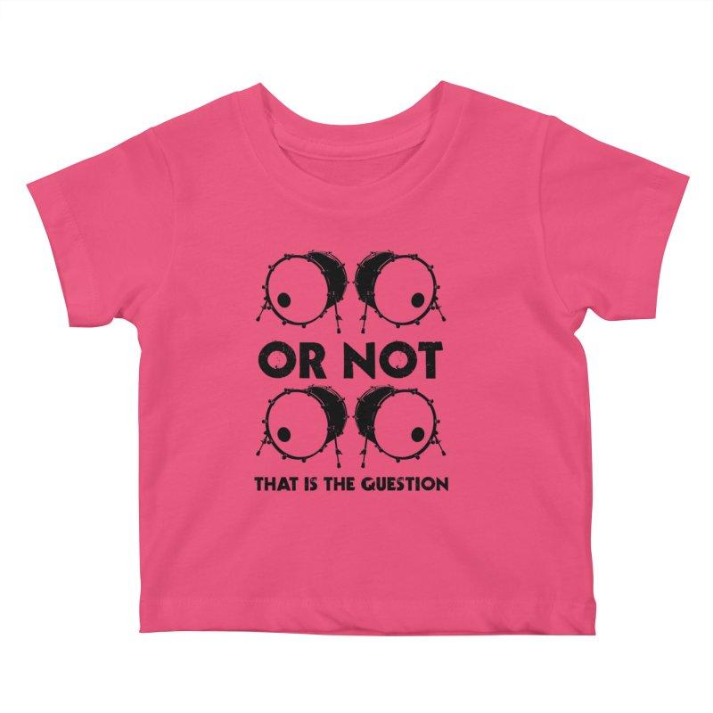 2 Kicks or Or Not 2 Kicks (Black) Kids Baby T-Shirt by Drum Geek Online Shop
