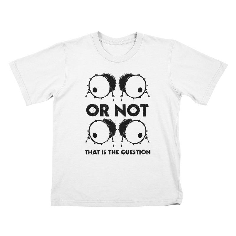 2 Kicks or Or Not 2 Kicks (Black) Kids T-Shirt by Drum Geek Online Shop