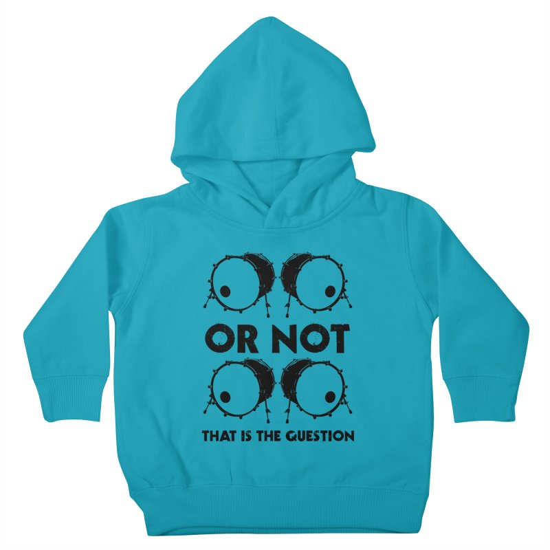 2 Kicks or Or Not 2 Kicks (Black) Kids Toddler Pullover Hoody by Drum Geek Online Shop