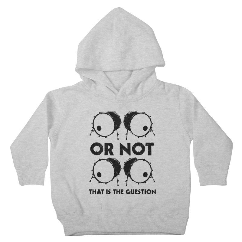 2 Kicks or Or Not 2 Kicks (Black) Kids Toddler Pullover Hoody by Drum Geek Online Shop