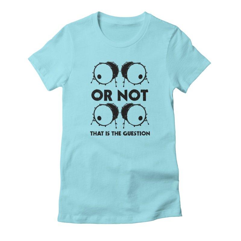 2 Kicks or Or Not 2 Kicks (Black) Women's T-Shirt by Drum Geek Online Shop