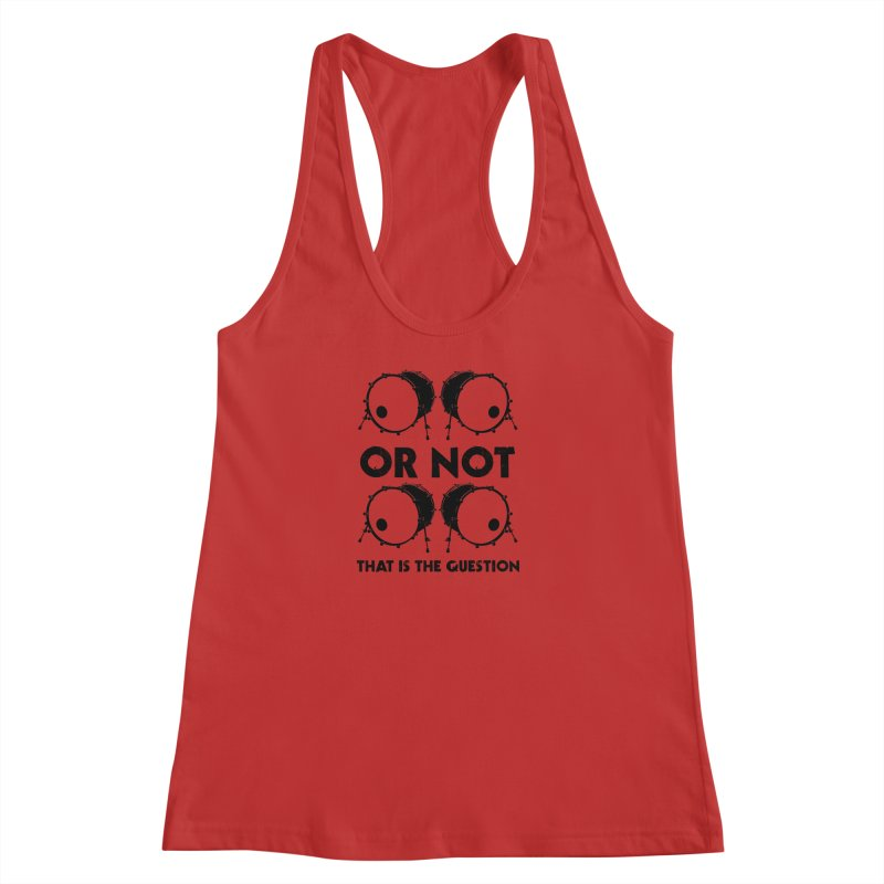 2 Kicks or Or Not 2 Kicks (Black) Women's Racerback Tank by Drum Geek Online Shop