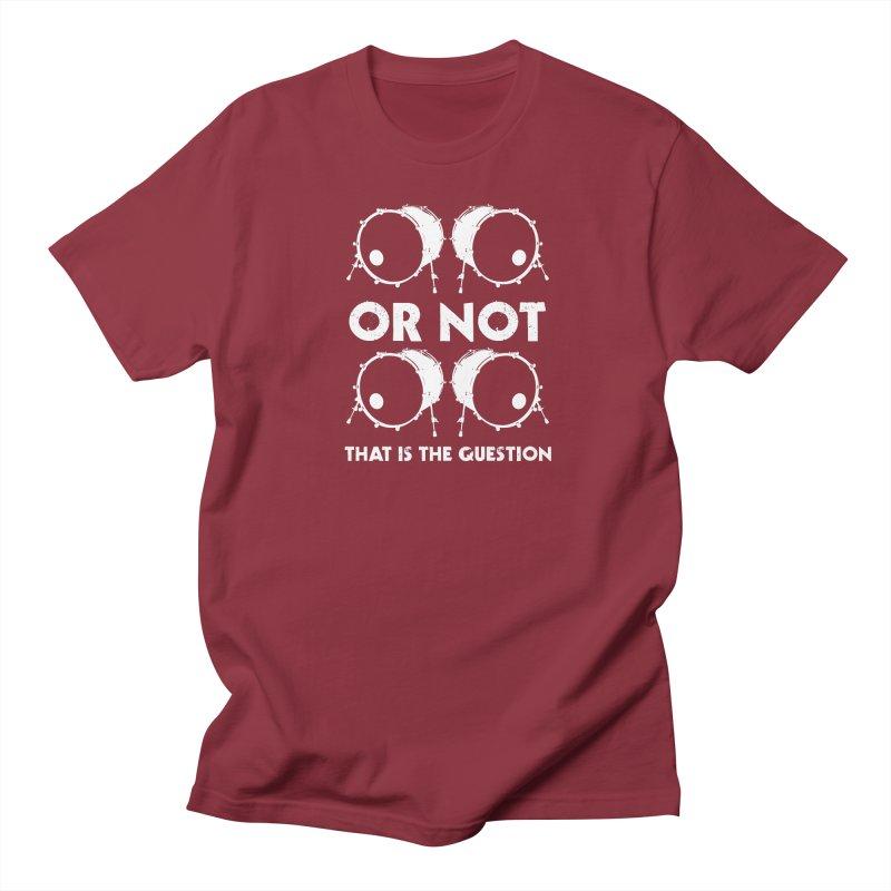 2 Kicks Or Not 2 Kicks (White) Men's T-Shirt by Drum Geek Online Shop