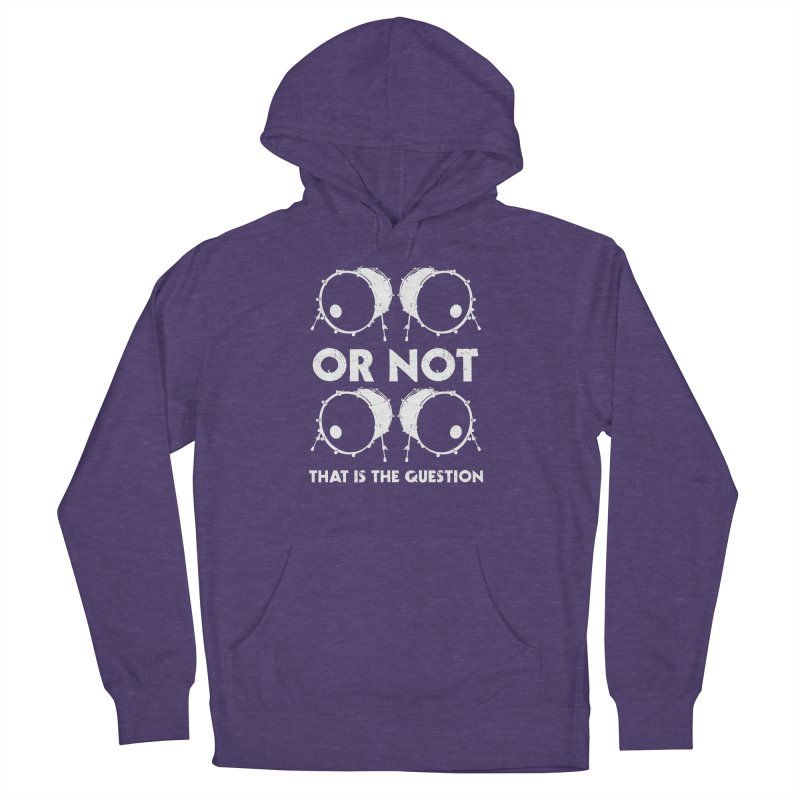 2 Kicks Or Not 2 Kicks (White) Men's French Terry Pullover Hoody by Drum Geek Online Shop
