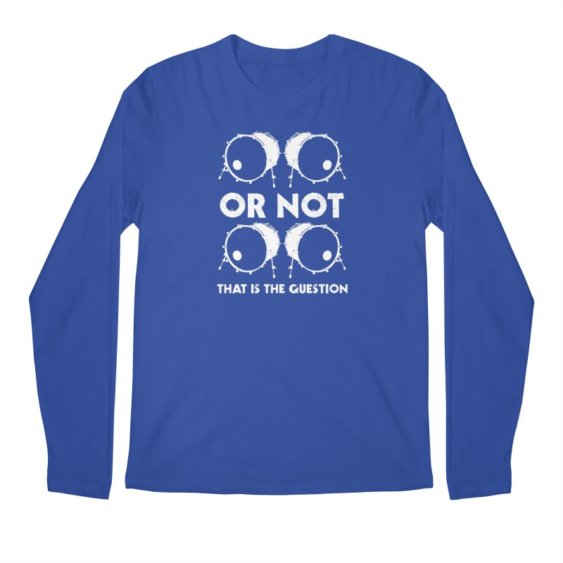 2 Kicks Or Not 2 Kicks (White) Men's Regular Longsleeve T-Shirt by Drum Geek Online Shop